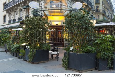 The Cafe La Closerie Des Lilas, Paris, France.