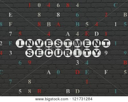 Security concept: Investment Security on wall background