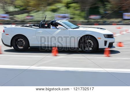 Chevrolet Camaro Convertible In Autocross