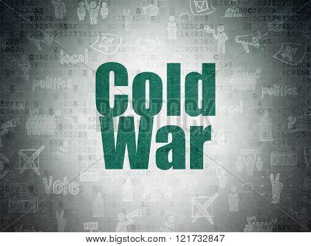 Politics concept: Cold War on Digital Paper background