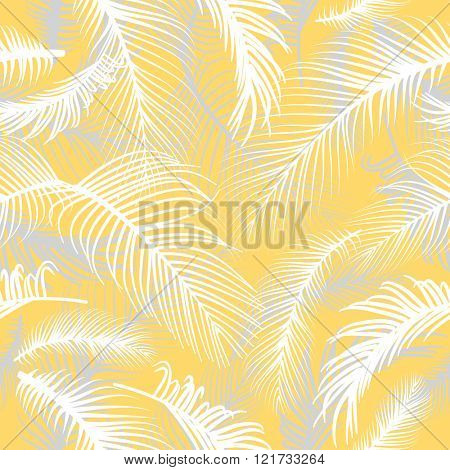Palm leaves seamless pattern