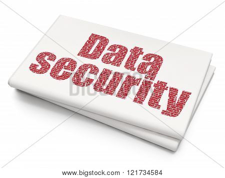 Privacy concept: Data Security on Blank Newspaper background