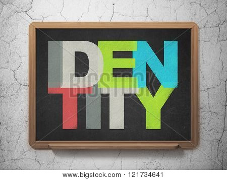 Protection concept: Identity on School Board background