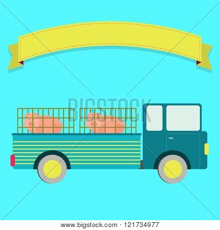 Truck With Pigs