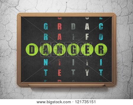 Security concept: Danger in Crossword Puzzle