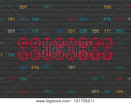Privacy concept: Computer Security on wall background