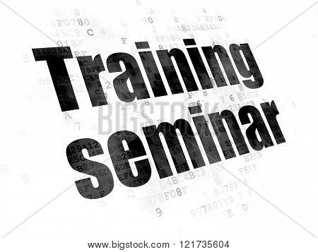 Studying concept: Training Seminar on Digital background