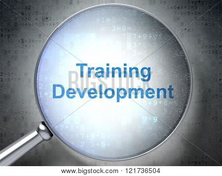 Learning concept: Training Development with optical glass