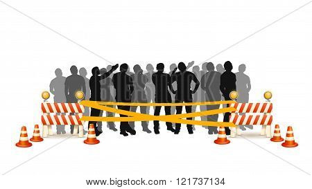 crowd cross line