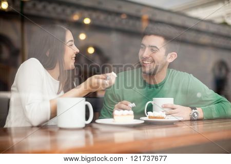 Boyfriend And Girlfriend In A Coffee Shop