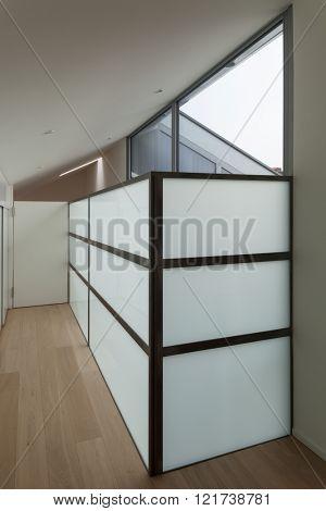 Interior of a modern house, corridor view