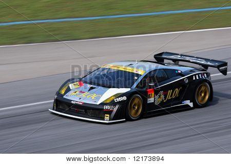 SEPANG, MALAYSIA - JUNE 21: The JLOC Lamborghini RG-3 car (87) in action during the Super GT International Series Round 4 race. June 21, 2010 in Sepang Malaysia.