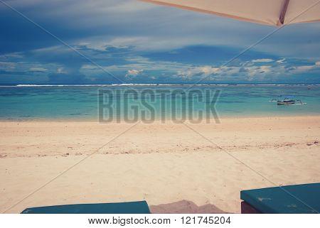 Tropical beach called Pandawa. The Bukit Peninsula, Bali, Indonesia.