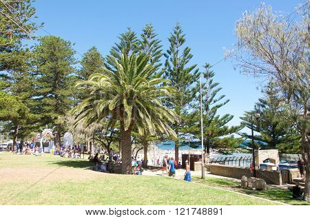 COTTESLOE,WA,AUSTRALIA-MARCH 12,2016:  People at the interactive free public arts festival