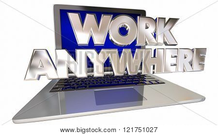 Work Anywhere Computer Laptop Mobile Travel Employee Productivity