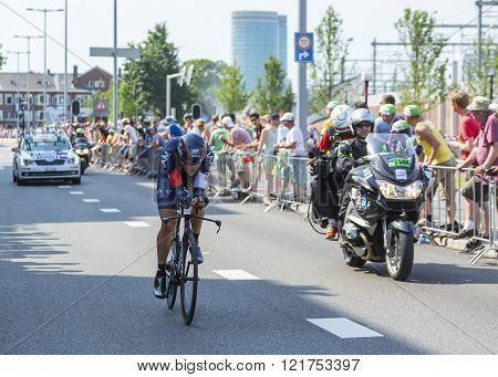 The Cyclist Matthias Brandle - Tour De France 2015