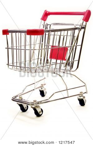 Shopping Trolley On White Background 5