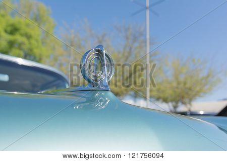 Closeup Of A Hood Ornament On A Buick