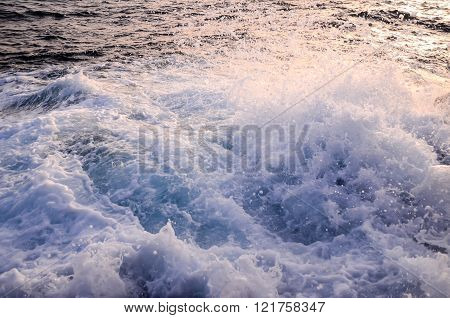 Strong Waves Crashing on the Volcanic Coast