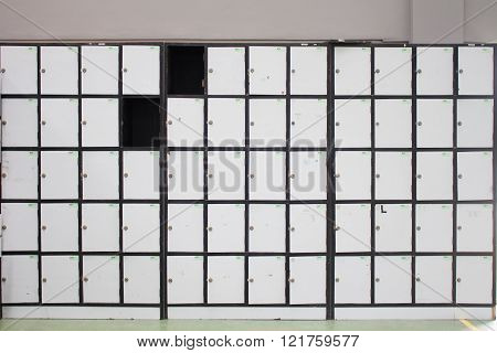 Lockers For Storage In Various Locations