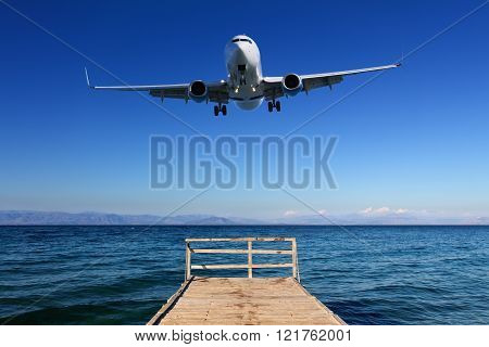 Landing In Paradise - Airplane Approaching Ground