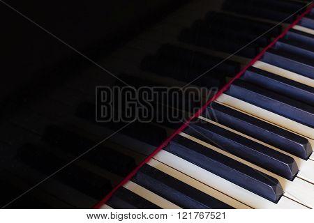 Shabby Old Piano Keys