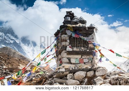 Khumbu Valley, Nepal, 28 April 2013 -memorial Climbers Died While Attempting To Climb The South Face