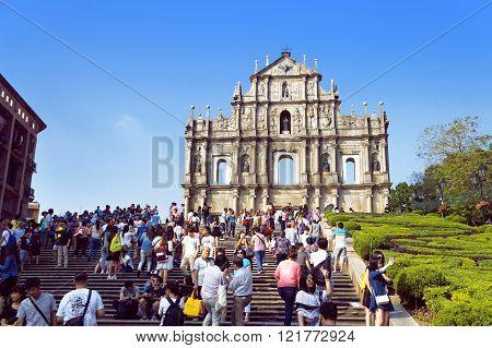 Saint Paul Ruins Macau Landmark