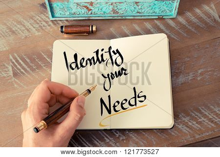 Written Text Identify Your Needs