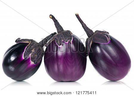 Raw Purple Aubergines