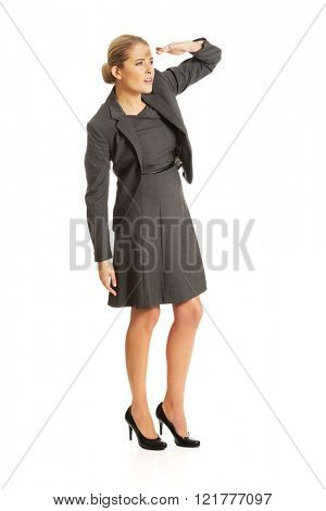 Businesswoman see something interesting