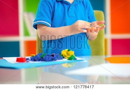 Child Play With Plasticine