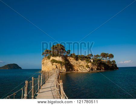 Travel and vacation concept - Zakynthos, a bridge to the island