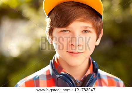 Teenager boy closeup