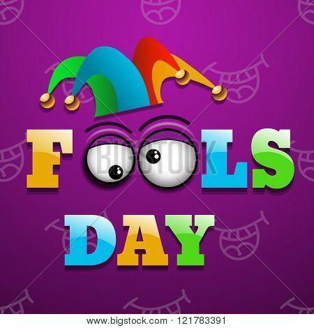 Illustration Celebrating April Fools' Day Vector Eps 10