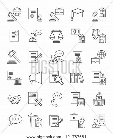 Legal Icons, Linear, Monotone...