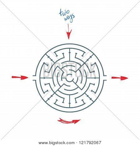 Round Maze With Arrows