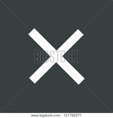 Cancel Icon, On Dark Background, White Outline, Large Size Symbol