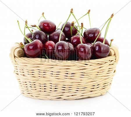 Cherries In Basket.