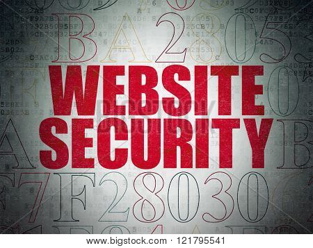 Web design concept: Website Security on Digital Paper background