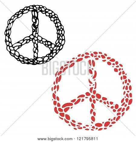 Hippie Sign. Peace Sign.