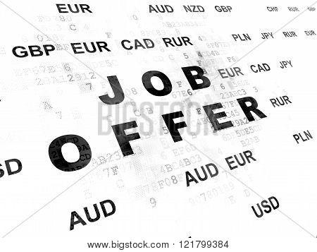 Business concept: Job Offer on Digital background