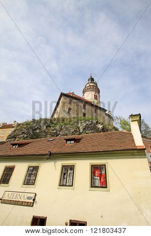 Cesky Krumlov, Czech Republic - May 01, 2013: View To Historic Castle Of Cesky Krumlov