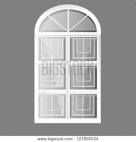 vector windows arch plastic