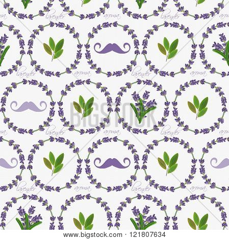 Seamless pattern with lavender flowers.