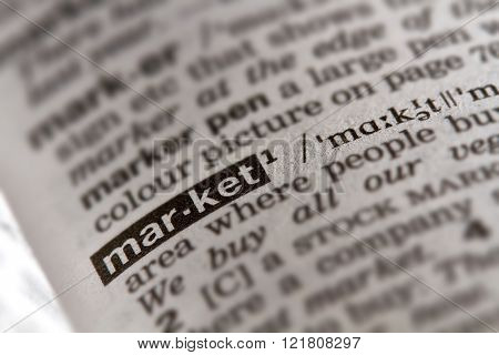 Market Word Definition Text