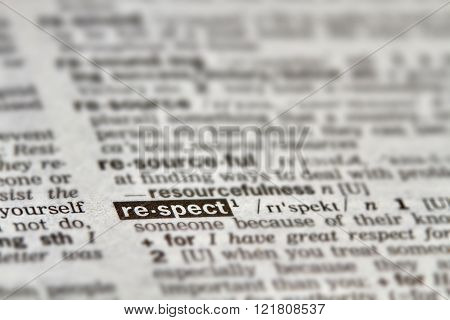 Respect Word Definition Text