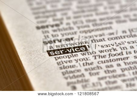 Service Word Definition Text