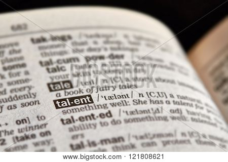 Talent Word Definition Text