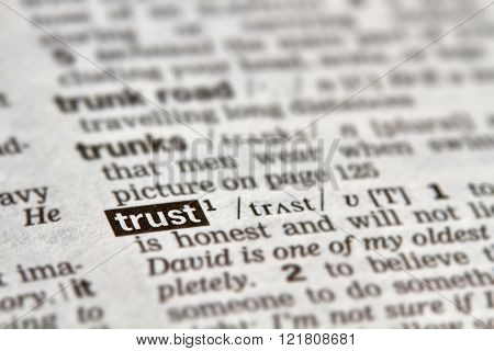 Trust Word Definition Text